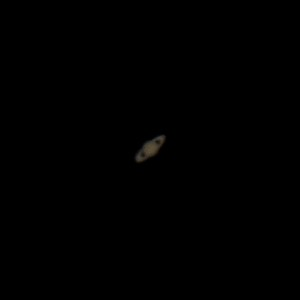 """Saturn taken with the 12"""" Dobson Telescope and the Pentax K-5 IIs. Finally have the scope retrofitted to take photos now. This is a single shot taken taken about an hour after twilight."""