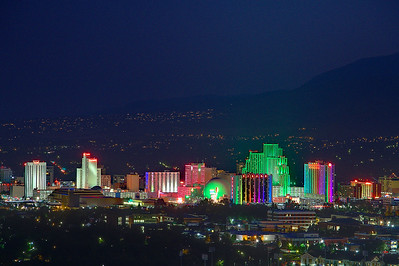 2017 - Reno, casinos, and mountains at night
