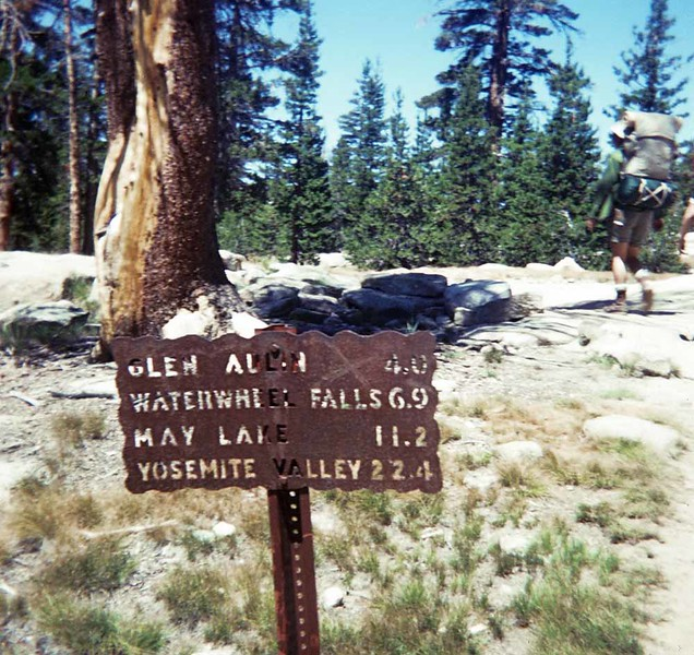 1970 - Backpacking at Yosemite