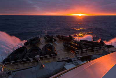 Last sunset for awhile in the Ross Sea