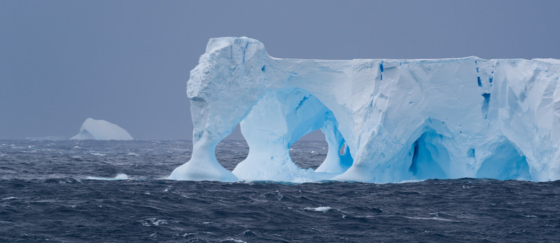 Icebergs near the Balleny Islands, Ross Sea, Antarctica