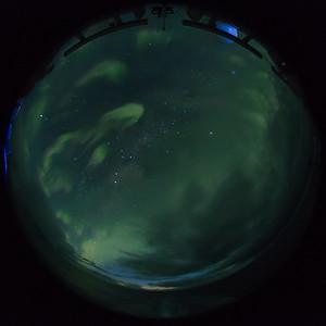 Aurora australis at 58º S lattitude in the Southern Ocean