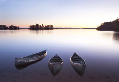 Canoes at dawn
