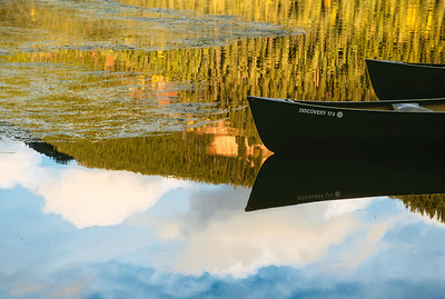 Boats with reflection