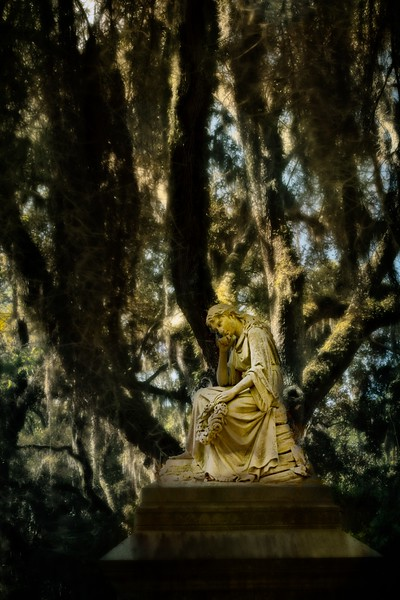 Statuary at the Bonaventure Cemetery in Savannah.<br /> Photo © Cindy Clark
