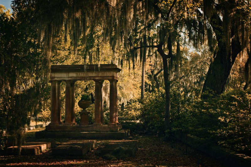 A monument in the Bonaventure Cemetery, Savannah.<br /> Photo © Cindy Clark