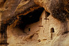 The Gila Cliff Dwellings were occupied from about 1275-1300 AD.<br /> Photo © Cindy Clark