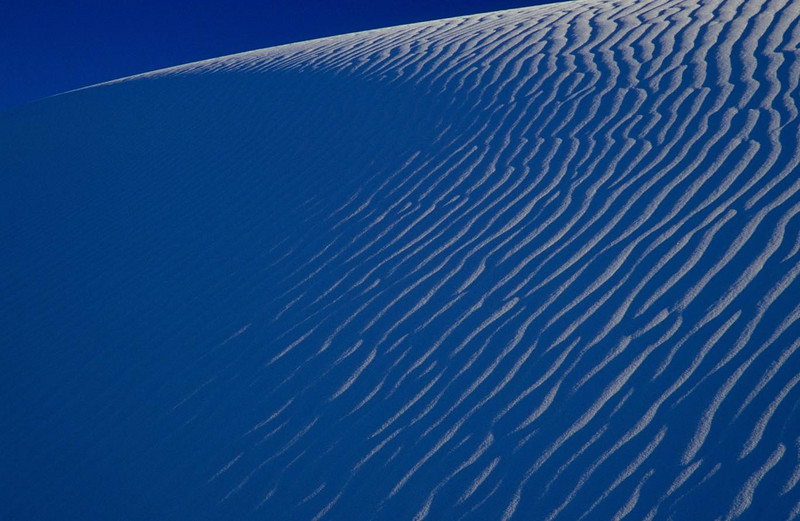 White Sands is infinitely abstract & readily lends itself to the individual's creative expression .<br /> Photo © Cindy Clark