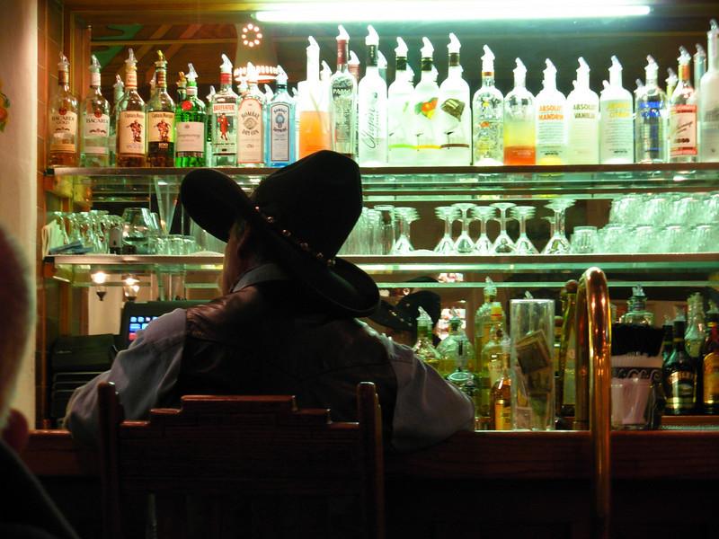 Set 'em up!  Hotel bar at the La Fonda, Santa Fe.<br /> Photo © Cindy Clark