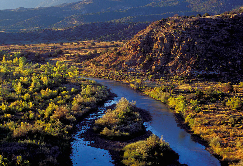 Different season and another view of the Chama River.<br /> Photo © Cindy Clark