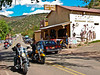 Motorcycles liven the scene around Los Ojos Bar in Jemez Springs.<br /> Photo © Carl Clark