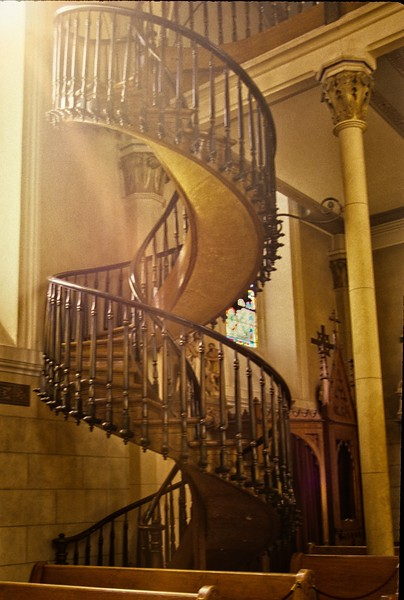 "The ""Miraculous Staircase"" in the Loretto Chapel in Santa Fe.<br /> © Cindy Clark"