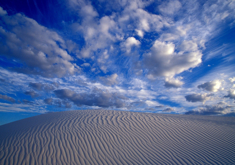 A study in blue & white - at White Sands.  Photo © Cindy Clark