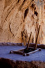 Entrance to a kiva at Bandelier National Monuement.<br /> Photo © Cindy Clark