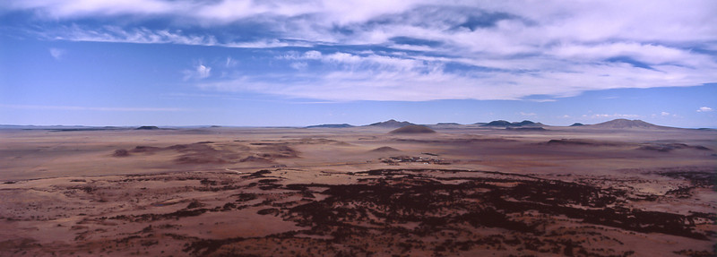 Looking south from Capulin Volcano to other remnants of the 9 million year-old volcano field.<br /> Photo © Carl Clark