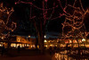 Festive lights on the plaza in Santa Fe.<br /> Photo © Cindy Clark