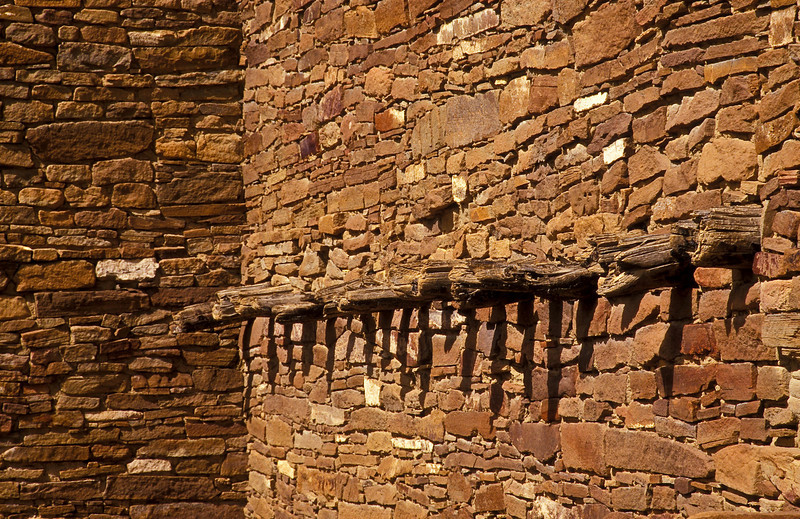 Chaco canyon architecture.<br /> Photo © Cindy Clark