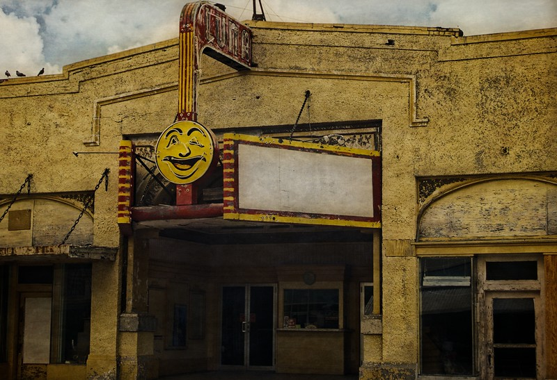 Built in 1915, the Luna Theater in Clayton has been restored & still shows movies.<br /> Photo © Cindy Clark