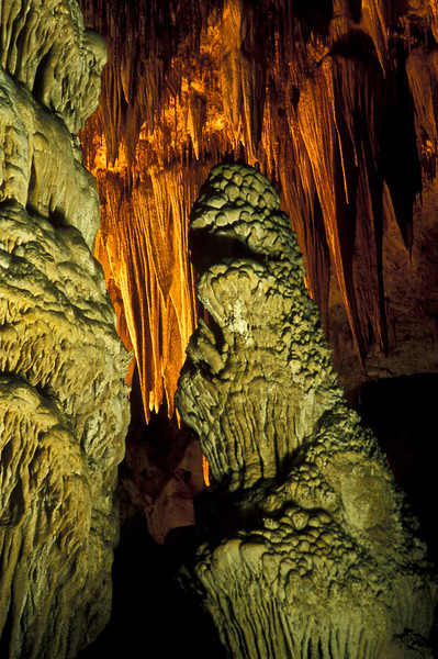Eerie formations at Carlsbad Caverns.<br /> Photo © Carl Clark