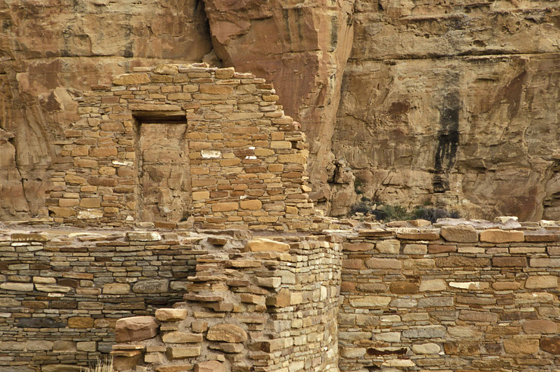 Stone building materials used at the source in Chaco Culture National Historical Park.<br /> Photo © Carl Clark