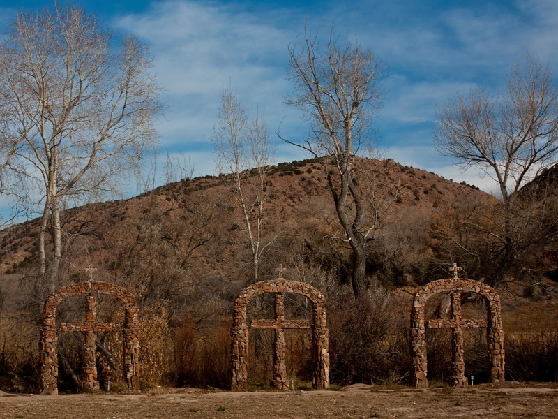 Sacred ground - especially for those of us that prize Chimayo chiles.<br /> Photo © Cindy Clark