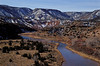 Late winter dusting of snow, Chama River.<br /> Photo © Cindy Clark
