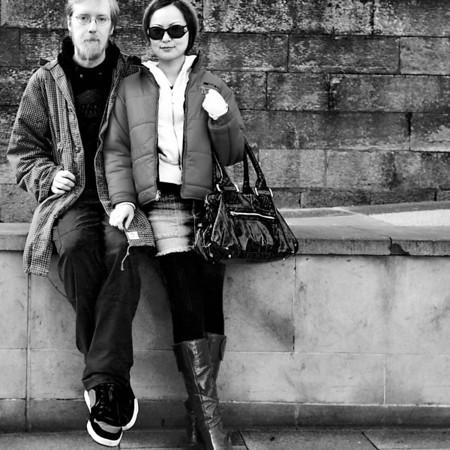 John and Yoko - Edinburgh - Street Portrait