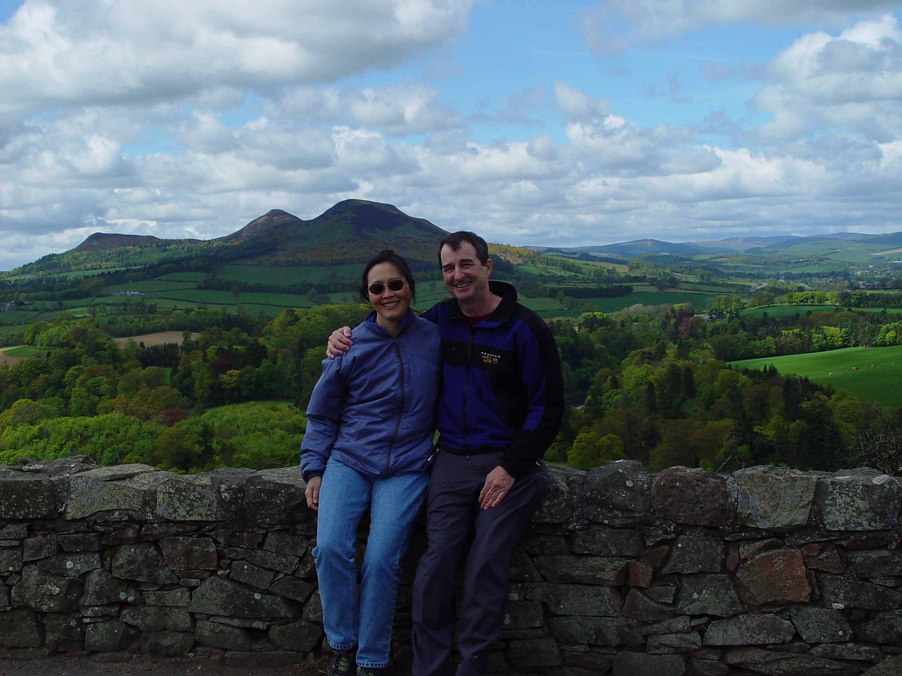 Peter and Monica Overly in the Eldon Hills