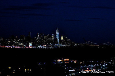 Freedom Building over Lower Manhattan