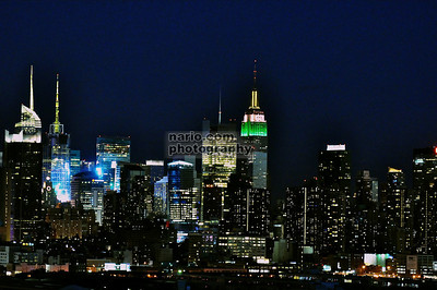 The Empire State Building (nighttime)