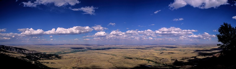 The view east from the Bighorn Mts to the Great Plains.<br /> Photo © Carl Clark