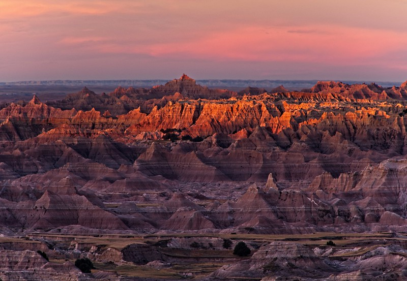 This view is of the Pinnacles area of Badlands National Park.<br /> Photo © Cindy Clark