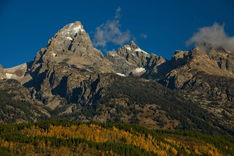 Autumn in the Tetons.<br /> Photo © Carl Clark