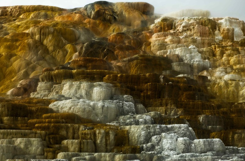 The Main Terrace at Mammoth Hot Springs. No saturation slider needed!<br /> Photo © Cindy Clark
