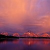 Mt Moran and Jackson lake, Grand Teton Nat'l Park.<br /> Photo © Carl Clark