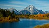 Mt Moran over the Snake River in Grand Teton National Park, Wyoming.<br /> Photo © Cindy Clark