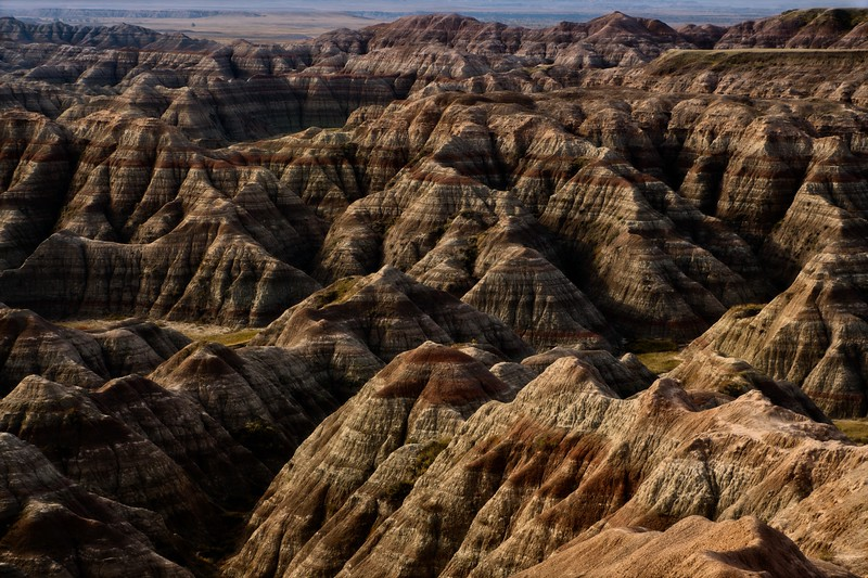 Wild rock things going on in The Badlands, South Dakota.<br /> Photo © Cindy Clark