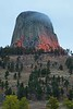 3 minutes of sunrise color on this particular morning at Devils Tower. But we got 3 minutes!<br /> Photo © Carl Clark