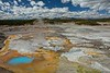 Aptly named Porcelain Basin in Yellowstone.<br /> Photo © Carl Clark