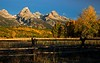 A perfect autumn morning in the Tetons!<br /> Photo © Cindy Clark