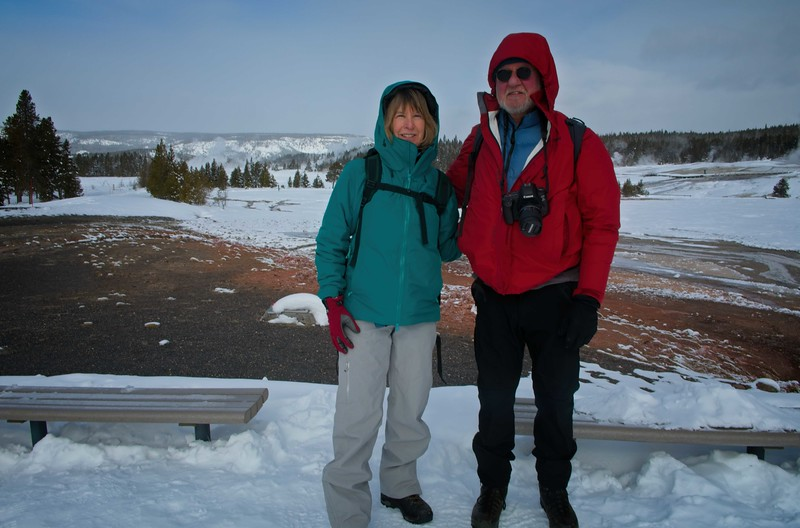 We were so fortunate to have clear weather in February at Yellowstone.