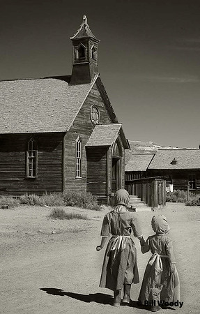 Going to Bodie Church Sept 2008 Bodie Ghost town California