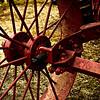 Rusty wheel.
