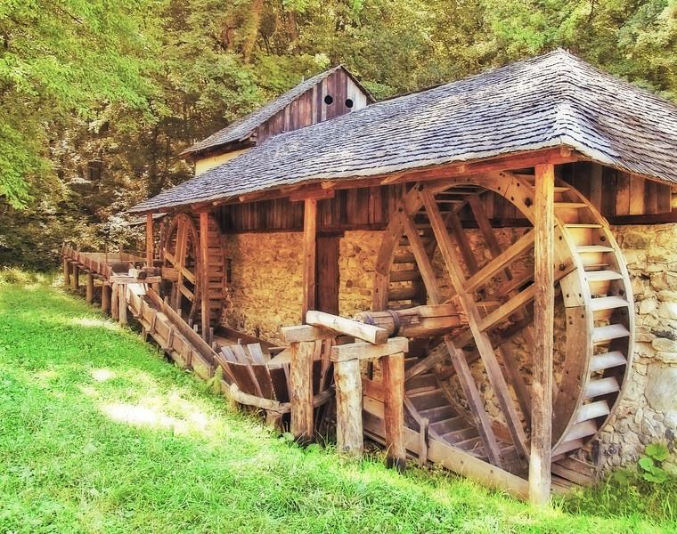 Water Wheel - Sibiu, Romania
