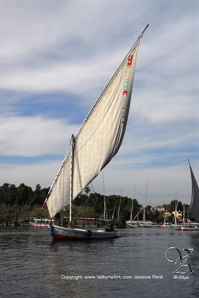Faluca on the Nile