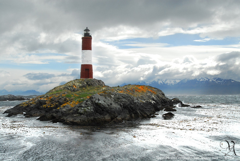 Les Eclaireurs Lighthouse, located in Ushuaia, Tierra del Fuego, Argentina
