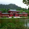 "The Byodo-In Temple was built in the 1960's to commemorate the 100th anniversary of the arrival of the first Japanese immigrant workers in Hawaii who came to work in the sugar plantation fields. It is a replica of the 950-year-old Byodoin Temple located in Uji, Japan on the southern outskirts of Kyoto.<br /> from: <a href=""http://gohawaii.about.com/od/oahusights/ss/byodo_in_temple.htm"">http://gohawaii.about.com/od/oahusights/ss/byodo_in_temple.htm</a>"
