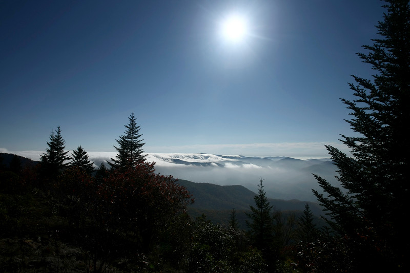 Cloud bank forming over the Blue Ridge Parkway - Western North Carolina
