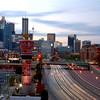 Atlanta Georgia at sunrise.