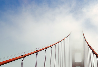 Ascending to the Fog – Golden Gate Bridge // SF, CA